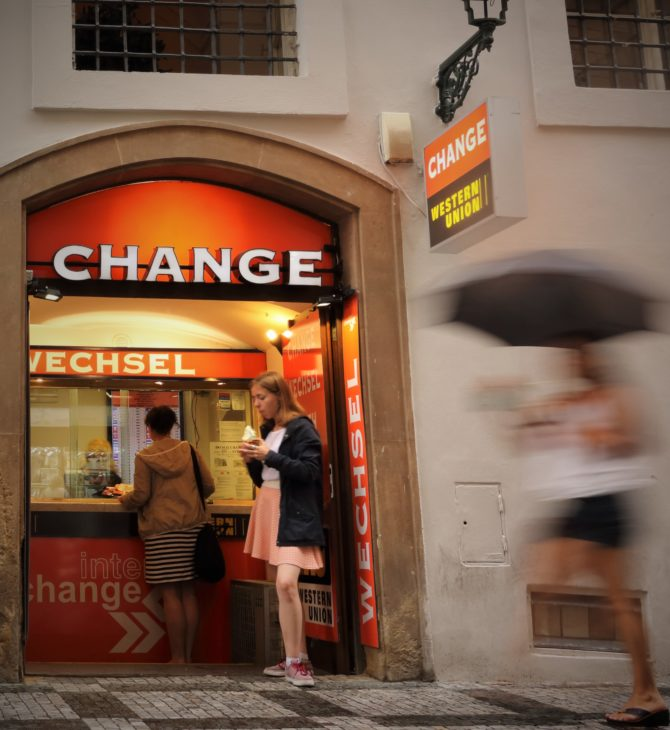 Interchange offers exceptional foreign exchange services for customers visiting the Old Town Square
