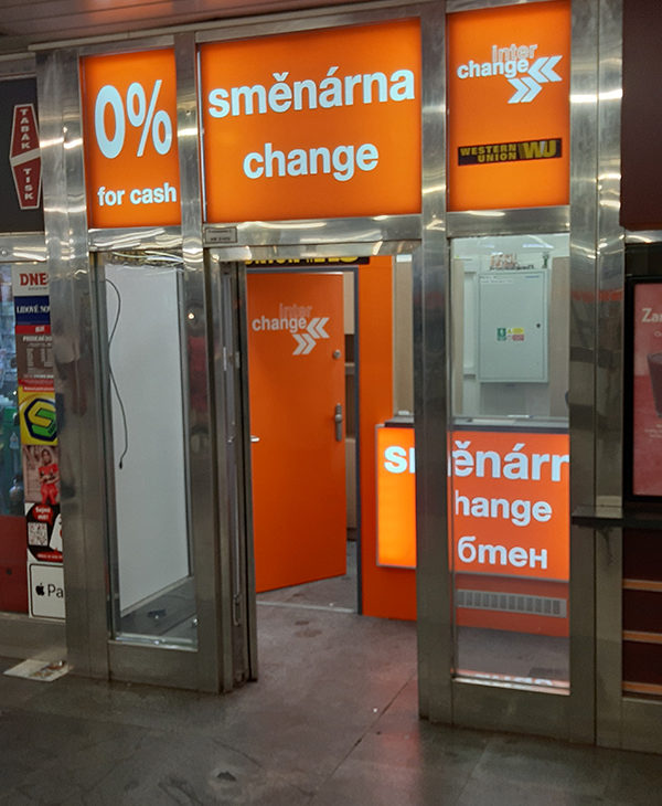 Interchange Czech Republic opens a new foreign exchange office at Hradcanska metro station